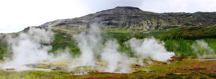 Geysir teren, Iceland fotografia stock
