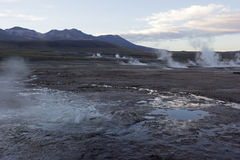 Geysire EL Tatio Stockfotos