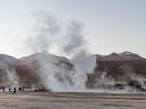 Geysire an EL Tatio, Atacama Stockbild