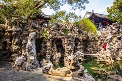 Geyuan ogród Yangzhou klasyczny ogród Zdjęcie Royalty Free