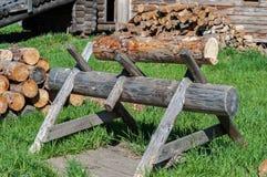 Gezaagd hout Stock Foto's