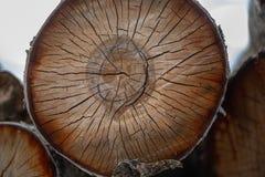 Gezaagde houten spleet royalty-vrije stock fotografie