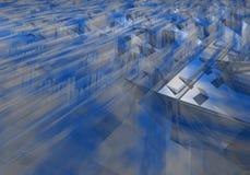 Gezackter abstrakter bläulicher Hintergrund Stockfoto