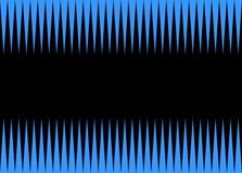 Gezackter Hintergrund blau und schwarz Stockbild