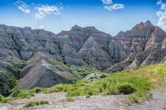 Gezackter Spitzenaufstieg von den South- Dakotaödländern Stockbild