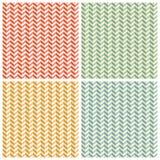 Gezahnte Zig Zag -Papier-Muster-Hintergründe eingestellt Lizenzfreie Stockfotografie