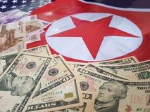 Gezamenlijke ontwikkeling van investeringen tussen de Verenigde Staten en Noord-Korea royalty-vrije stock foto's