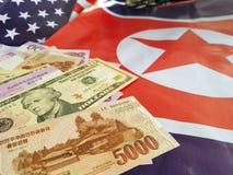 Gezamenlijke ontwikkeling van investeringen tussen de Verenigde Staten en Noord-Korea stock foto's