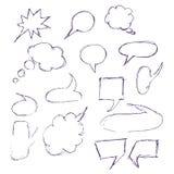 Gezeichnete Blasenrede der Skizze Hand Lizenzfreies Stockfoto