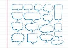 Gezeichnete Blasenrede der Sprache-Blasen-Skizze Hand Lizenzfreies Stockfoto