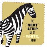 Gezeichnete Illustration des Zebras Hand Auch im corel abgehobenen Betrag Stockfotografie