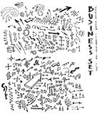 Gezeichnete Pfeile des Vektors Hand stellten eps10 ein Lizenzfreie Stockbilder