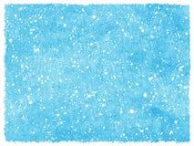 Gezeichneter Aquarellhintergrund der Winterschneefälle Hand Stockfotografie
