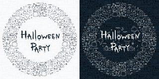 Gezeichneter Karikaturhintergrund Halloweens Hand, Illustration Lizenzfreies Stockbild