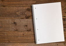 Gezeichneter Notizbuch A4 Hintergrund Lizenzfreies Stockfoto