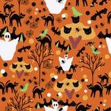 Gezeichneter Rüttler Halloweens orange Hand stock abbildung