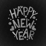 Gezeichneter Text des guten Rutsch ins Neue Jahr Hand Lizenzfreies Stockfoto