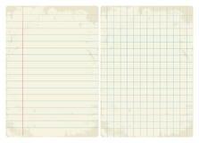 Gezeichneter u. Diagrammweinlese-Papiersatz Stockfoto