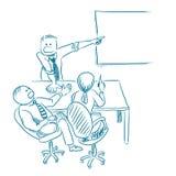Gezeichneter Vektor des Geschäftstreffens Hand lizenzfreie abbildung