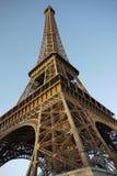 Gezeichnetes Bild Paris-Symbols Hand im Rahmen mit Gestaltungselementsatz Stockbild