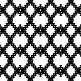 Gezeichnetes eigenhändig nahtloses ethnisches Schwarzweiss-Muster stock abbildung