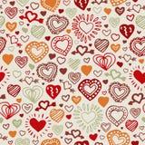 Gezeichnetes Muster des Valentinsgrußes Hand Lizenzfreies Stockbild