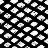Gezeichnetes nahtloses Muster der abstrakten Raute der Tinte Hand Lizenzfreies Stockfoto