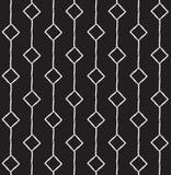 Gezeichnetes nahtloses Muster der Raute Hand Stockfotografie
