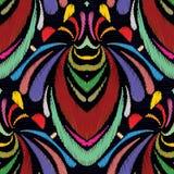 Gezeichnetes nahtloses Muster der Stickerei abstrakte Hand Buntes tapest Lizenzfreies Stockfoto