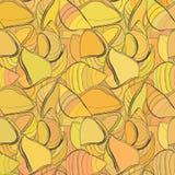 Gezeichnetes nahtloses Teigwarenmuster des Vektors Hand Stockbilder