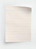 Gezeichnetes Notizbuch-Papier Stockbilder