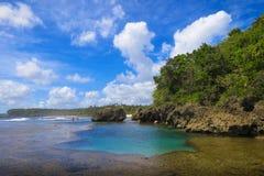 Gezeiten-Pool in den Inseln stockfotos