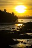Gezeiten-Pool-Sonnenuntergang lizenzfreie stockbilder