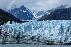 Gezeitenwasser Margerie Gletscher, Alaska Stockfoto