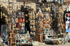 Gezellige bazaarstraat van Egypte Royalty-vrije Stock Afbeeldingen