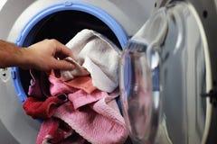 Gezette de hand van de machinewasmachine royalty-vrije stock foto