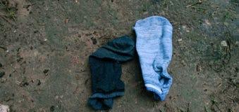 Gezette droge sokkengrond royalty-vrije stock afbeeldingen