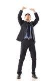 Gezette handen omhoog tegen iets Royalty-vrije Stock Fotografie