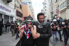 Gezi Park anniversary in Istanbul. Royalty Free Stock Photo