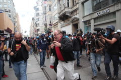 Gezi Park anniversary in Istanbul. Royalty Free Stock Image