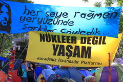 Gezi Park Banners Stock Photos