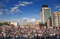 Gezi Park Protests in Istanbul Stock Images