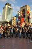 Gezi Park Protests in Istanbul Royalty Free Stock Photography