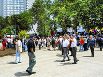 Gezi Park protests. When speaking groups of protesters Royalty Free Stock Photos