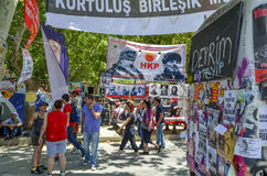 Gezi Park, the world political and revolutionary folk hero poste Royalty Free Stock Photography
