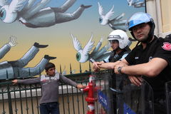 Gezi-Parkjahrestag in Istanbul Stockfotos