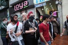 Gezi-Parkjahrestag in Istanbul Lizenzfreies Stockbild