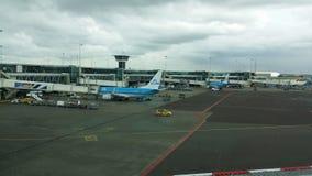 Gezicht bij de luchthaven Royalty-vrije Stock Afbeeldingen