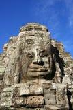 Gezicht bij Tempel Bayon stock fotografie