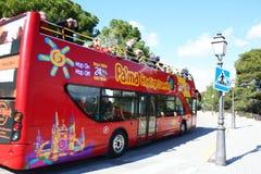 Gezicht dat bus ziet Royalty-vrije Stock Fotografie